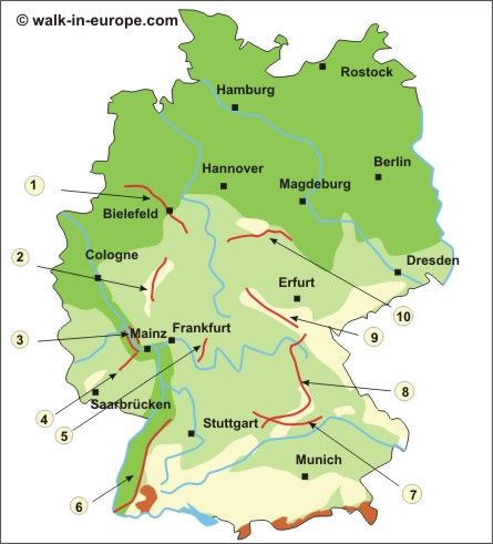 walk-in-europe.com: Germany: Walking and Trekking on Long Distance Trails