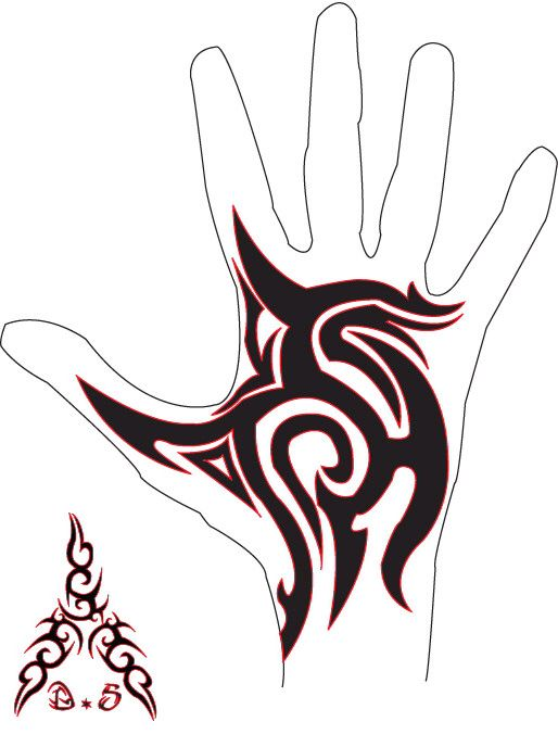 Tribal Hand Tattoo by bfmv01 on @DeviantArt                                                                                                                                                     More