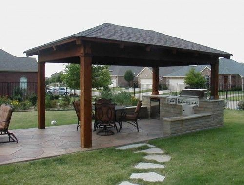 Pergola Small Outdoor Kitchen Designs With Pergola Muriel Fernandez Pergola In 2020 With Images Backyard Pavilion Small Outdoor Kitchens Covered Outdoor Kitchens