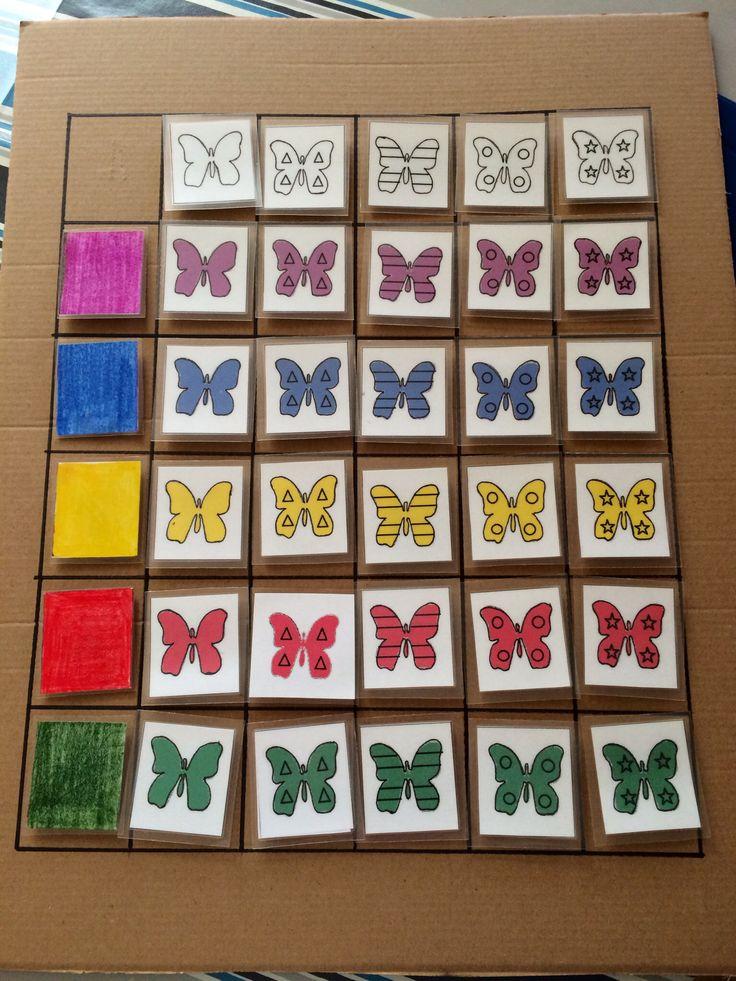 Matrixbord - vlinders