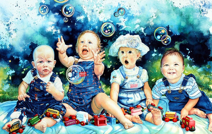 the bubble gang: Bubble Gang, Bubbles, Children, Artist, Painting, Lore Koehler
