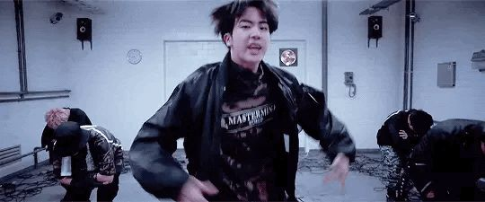 I love how BigHit's making Jin the center in their dances more often (as well as giving him more lines) bc this boy has done so much and he needs to be appreciated more