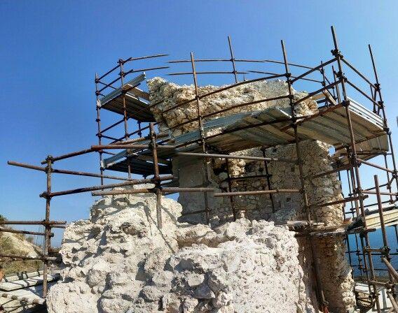 Torre del Poetto. Iniziati i lavori di restauro.