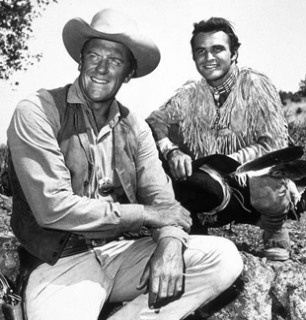 James Arness as Matt Dillon and Burt Reynolds as Quint Asper