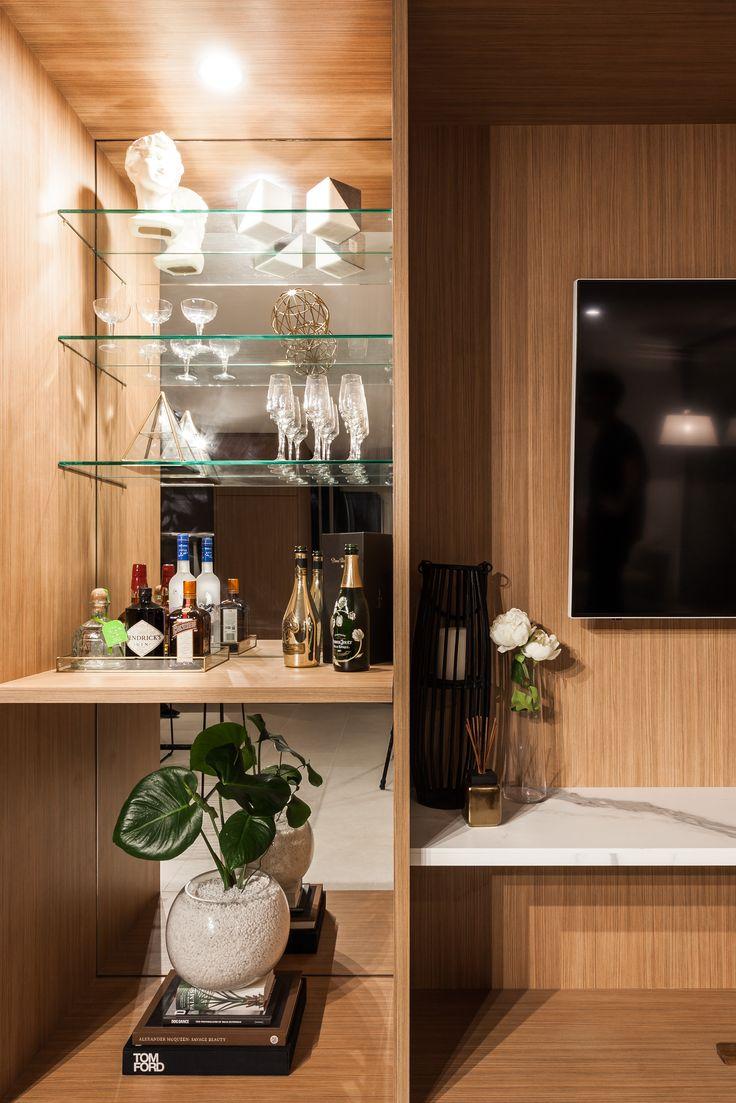 Apartment renovation - Cocktail display bar by LDC. Claremont, Western Australia.