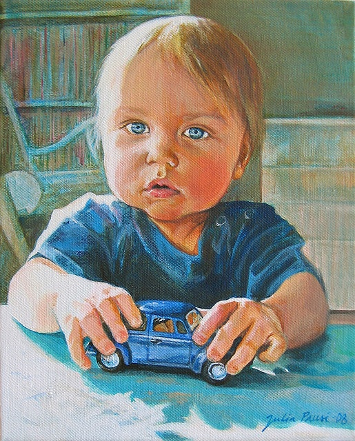 $550. Winter Light (Luca 1 year old) by Julia Prusi