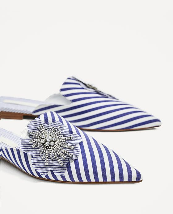 ZARA - WOMAN - STRIPED MULES.  These might just be the cutest shoes I've ever seen.