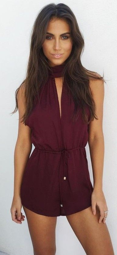 #summer #coolest #outfits | Marsala Lust Playsuit