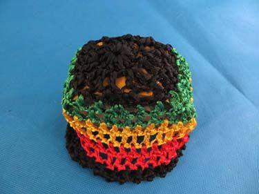 Handmade crochet baby rasta hat. Striped beanie for baby boys or girls $2.35 - http://www.wholesalesarong.com/blog/handmade-crochet-baby-rasta-hat-striped-beanie-for-baby-boys-or-girls-2-35/