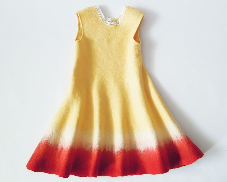 Felt dress for girls
