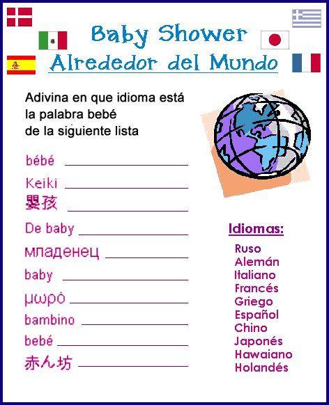 juegos para baby shower en español divertidos - Buscar con Google