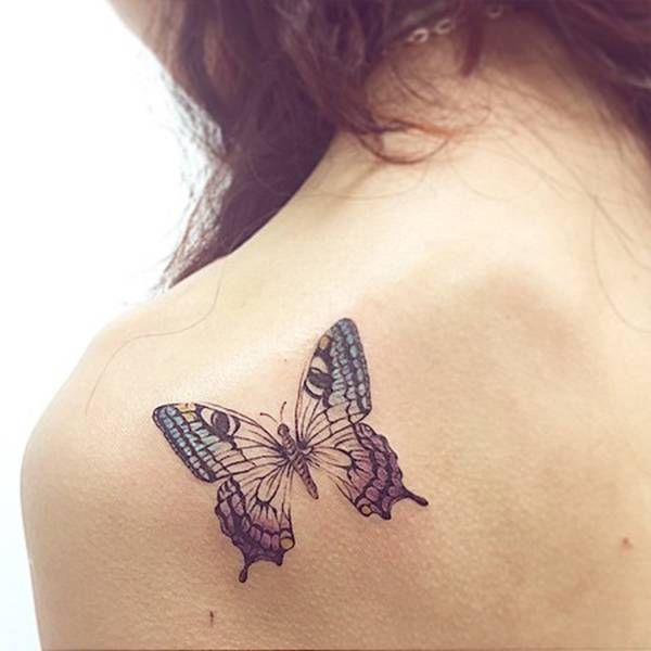 butterfly shoulder blade tattoos - Google Search