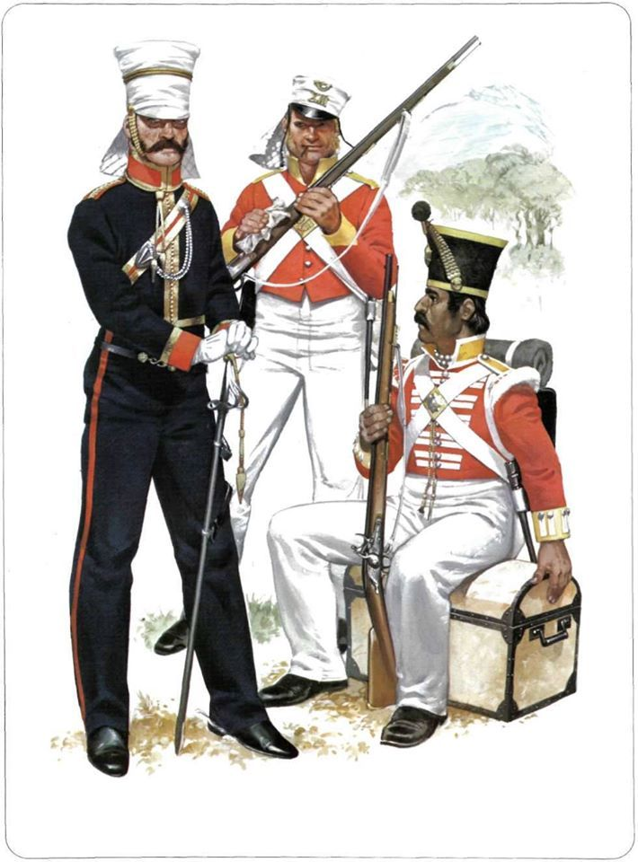 1:Officer,3rd Light Dragoons,1842.2:Private,13th Foot,1842.3:Sepoy,Light Company,35th Bengal Native Infantry,1842.