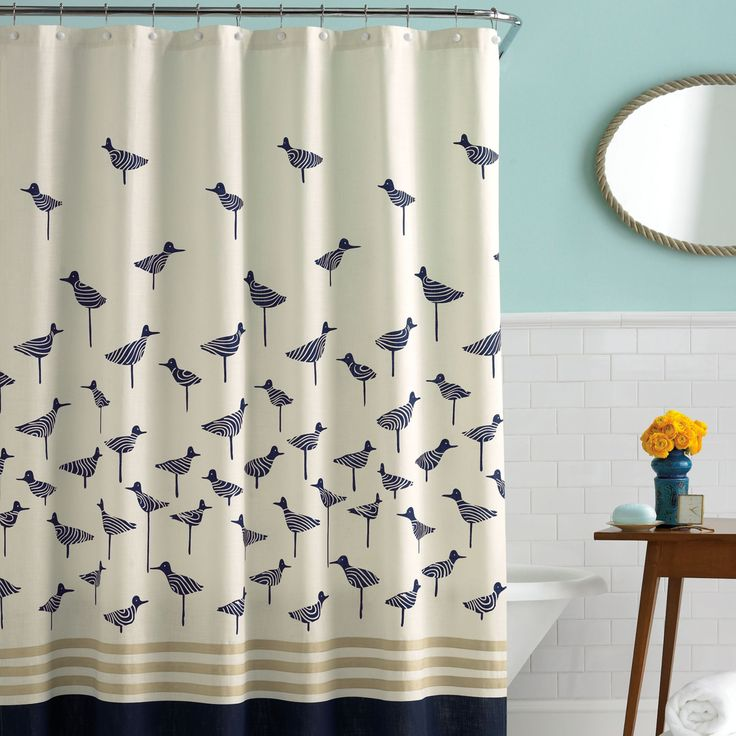 CheviotProducts Likes This Modern Bird Themed Shower Curtain