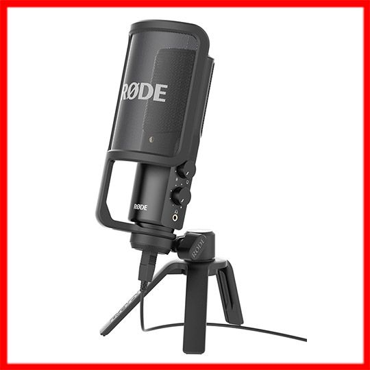 "Rode NT-USB is a cardioid, side-address USB microphone with an integrated headphone amplifier and stereo headphone jack that allows for latency-free monitoring. Rode NT-USB includes the feature of a ""Direct Mix Control"" which allows you to select between mic input and source input for monitoring. $199 #rode   #rodemicrophones   #rodemics   #usbmicrophones   #usbmic   #podcasting   #podcast   #musiclab http://www.musiclab.com.au/product-info/rode-nt-usb-cardioid-usb-microphone-desk-style/"