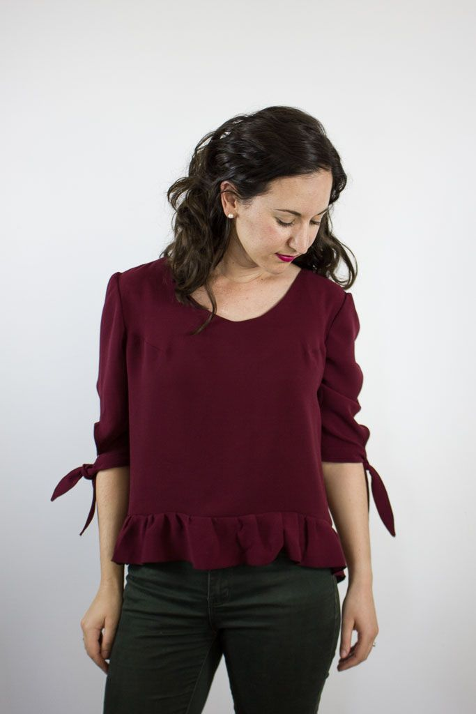 The Franki Top by The Wearable Studio. PDF Sewing Pattern. $14