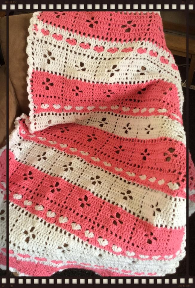 """""""Call the Midwife"""" blanket with Heart Stitch"""