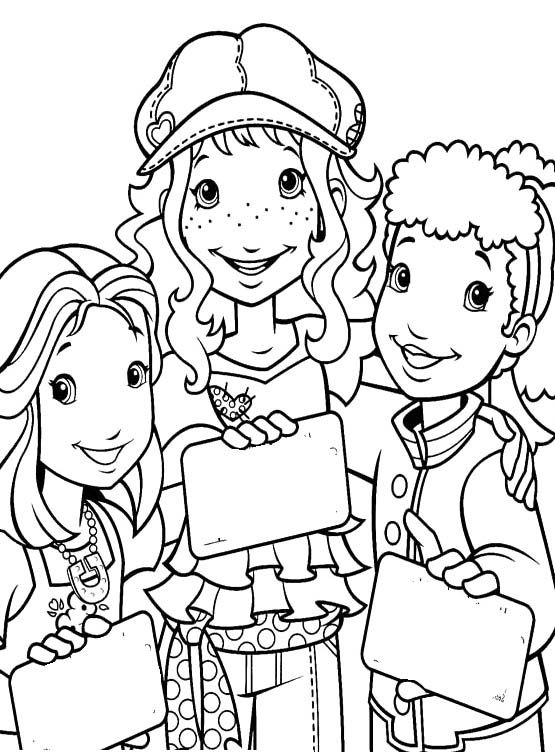 Holly hobbie and friends coloring pages holly hobbie for Holly hobbie coloring pages
