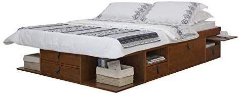 Amazon Com Memomad Bali Storage Platform Bed Queen Size Off