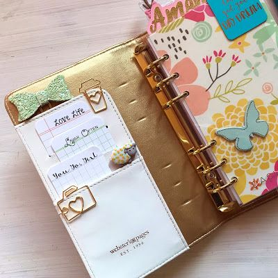 She's Eclectic: Planner Friday - February. Inside my spring planner  #anniespaperboutique