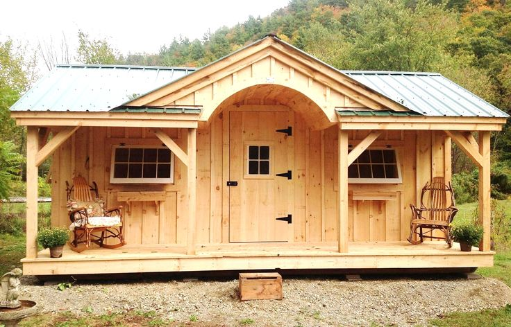 A relaxing and soothing 12x20 Granny Pod fully assembled in the northeast. Example shows optional cedar flower boxes. Perfect for your love ones. #GrannyPod