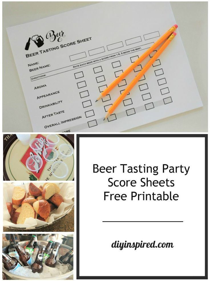 Beer Tasting Party Score Sheets - Free Printable plus Ideas for a Fun and Casual Beer Tasting Party