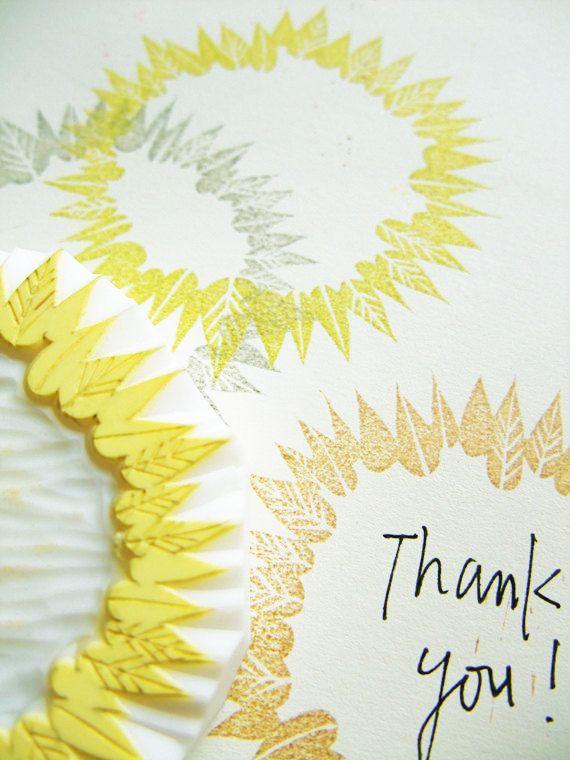 leaf wreath frame hand carved rubber stamp. von talktothesun
