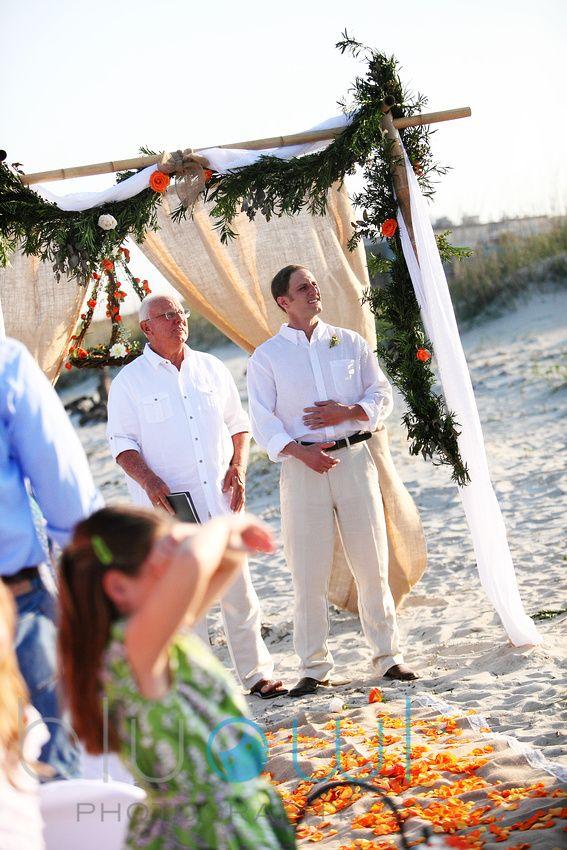 Real Tybee Island Beach Wedding Ceremony Decor Destination Planners Event Designers Florists In Savannah
