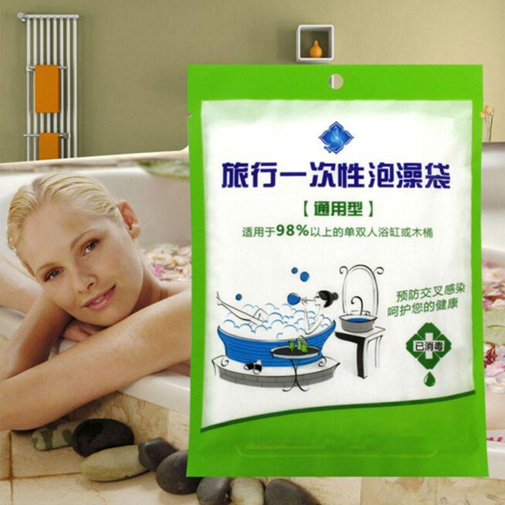 New Large Disposable Travel bathtub liner Folding Tub Membrane Bathtub bag Baby Swimming Plastic Bag plastic tub cover Z3