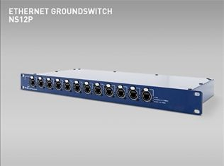 DataMotion NS12P Groundswitch ethernet professional touring