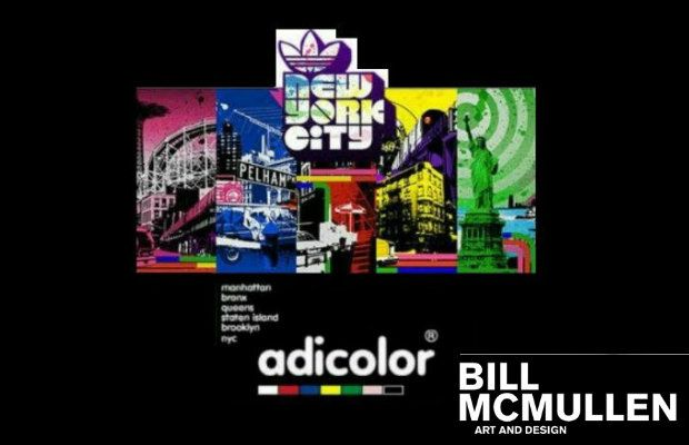 Bill McMullen x Adidas Adicolor NYC series