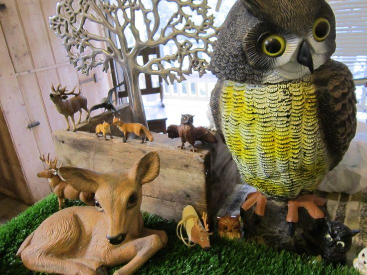 woodland birthday party- owl, deer