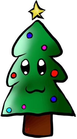 Free Christmas Tree Clipart Xmas Tree -at www.wonderweirded.com Free Printable Cartoon Christmas Tree Clip Art ADORABLE !!! NO $