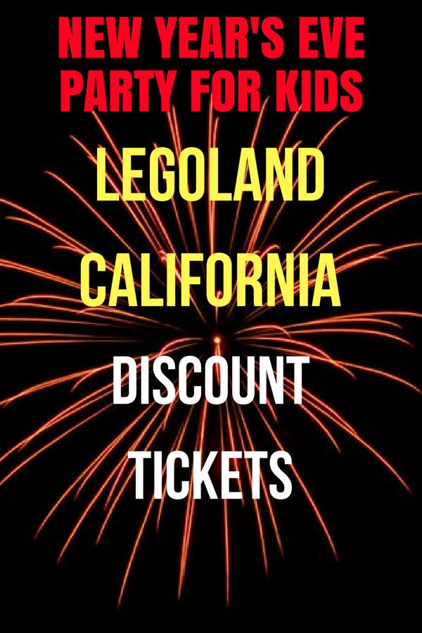 Looking for a fun way to celebrate New Year's Eve with your kids without staying up too late? Find out why you and your kids should spend New Year's Eve at LEGOLAND California Resort in Carlsbad, California (near San Diego). Learn how you can get discounted tickets to enjoy the New Year's Eve event at LEGOLAND California. #Carlsbad #newyearseve #newyearseveforkids #legoland