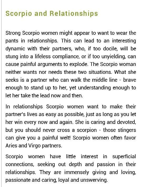 Scorpio relationships