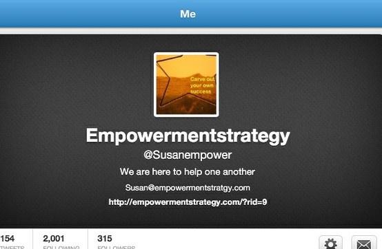 Susanempower on twitter