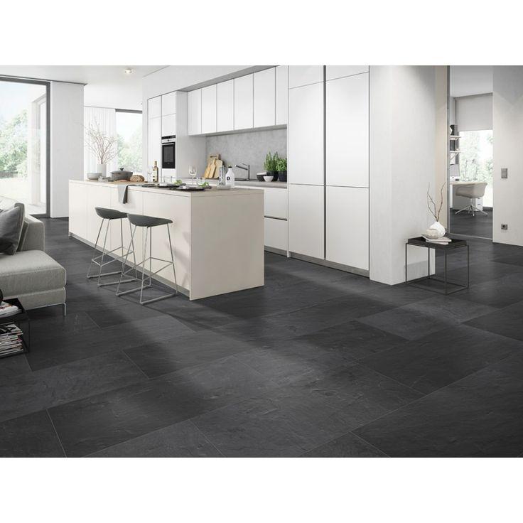 Ett vackert golv i hemmets torra utrymmen B!Design AQUABlue Vulcano är ett vattenresistent golv med hög hållbarhet som passar i torra utrymmen med högt sl