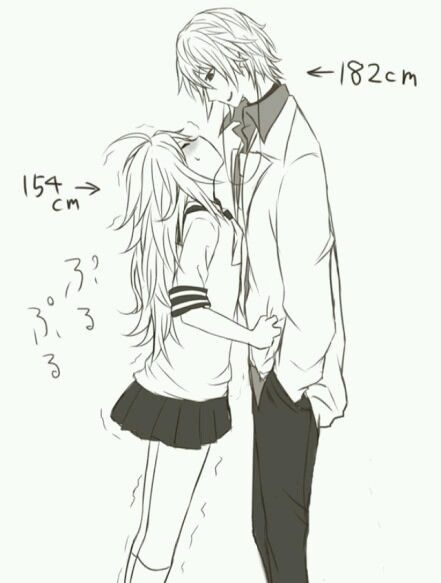 Short girl dating really tall guy manga