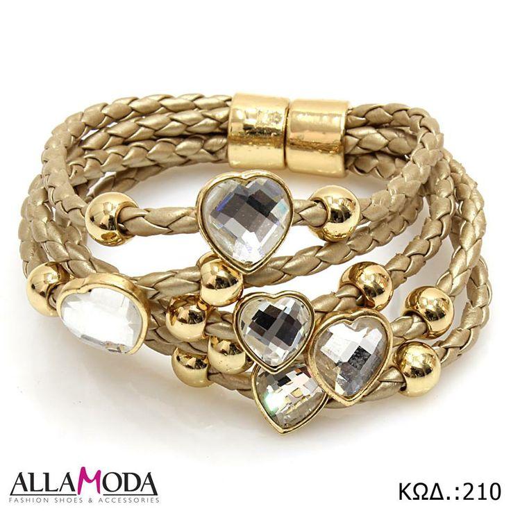 Βραχιόλι χειρός σε Χρυσό χρώμα, χρυσά Στοιχεία , μαγνητικό Κούμπωμα και διακοσμητικές Καρδούλες. https://www.facebook.com/media/set/?set=a.590076077725316.1073741839.540689855997272&type=3
