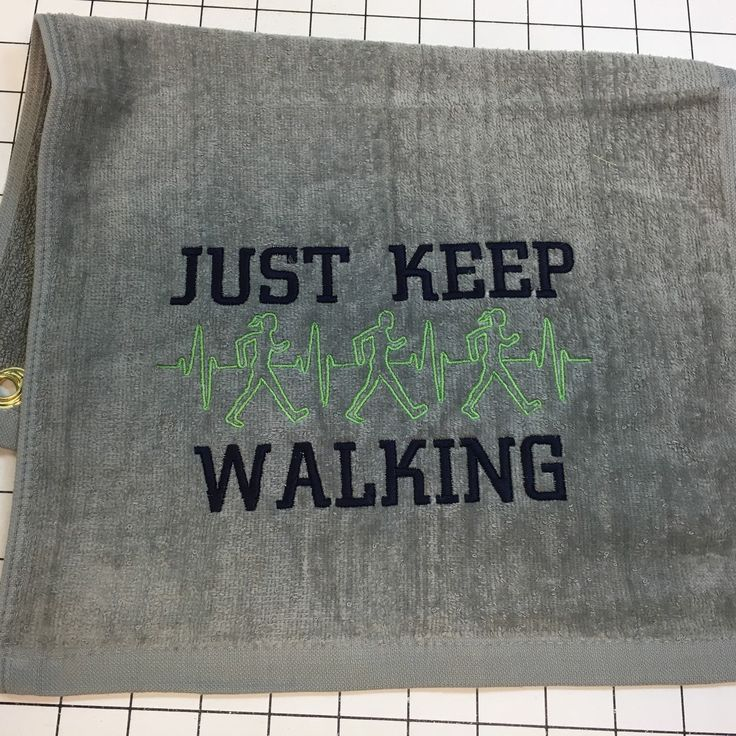 Workout Towels With Sayings: Walking Towel, Personalized, Gym Towel, Workout Towel