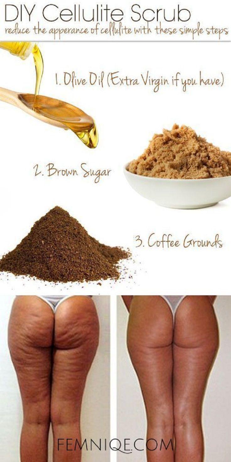 DIY Celulitis Exfoliante con Granos de Café, aceite de oliva y azúcar de Brown