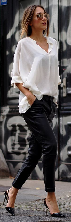 Hello Shopping Black And White Cool Chic Fall Inspo