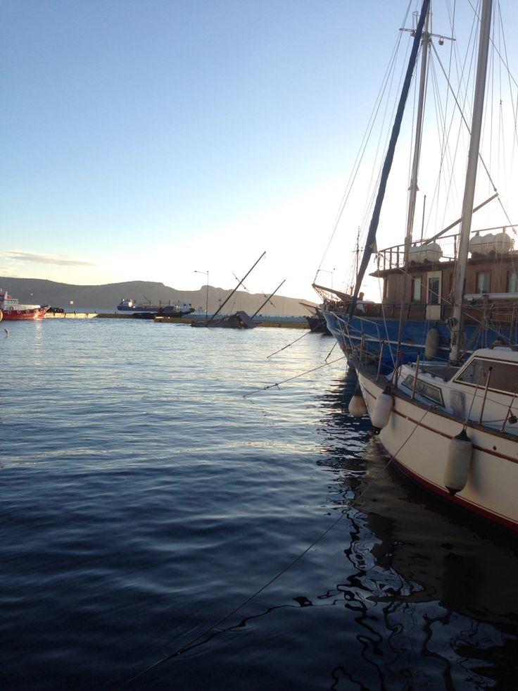 The port in Elefsina
