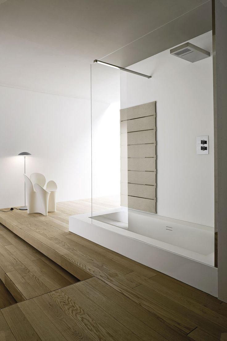 Built-in bathtub-shower combination / rectangular / composite UNICO by Rexa Design Studio Rexa Design