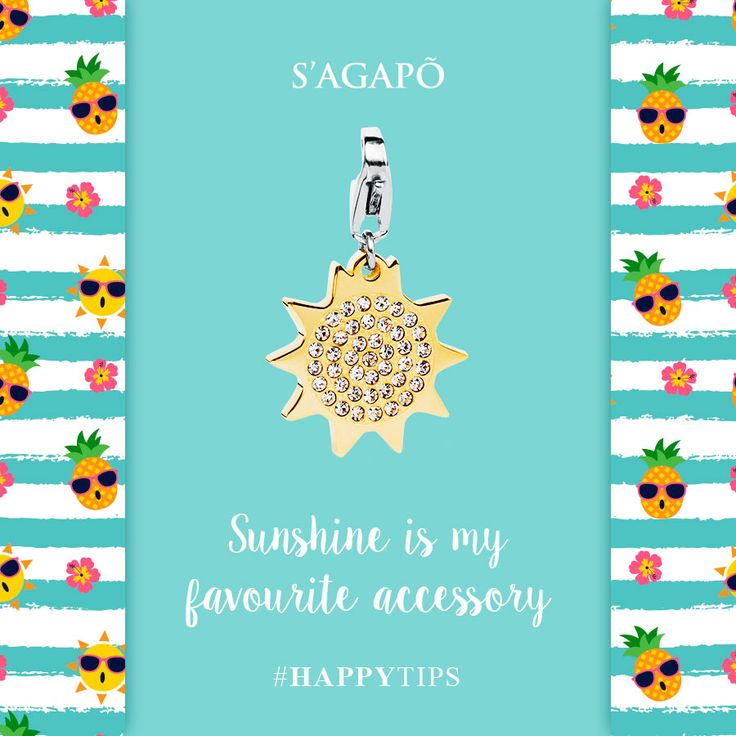 Sunshine is my favourite accessory #happy #happytips #sun #summer #estate #charm #gioielli #quote #summerquote