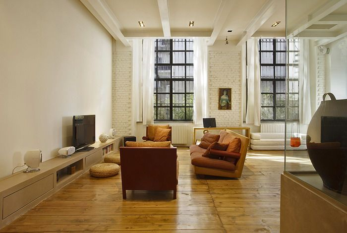 Классический пример квартиры в стиле Лофт на фото