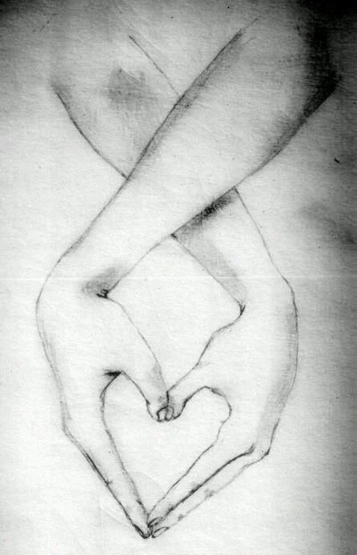 Disegno mani cuore