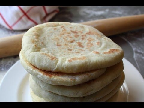 Pita Bread - How to Make Pita Bread at Home - Grilled Flatbread - YouTube