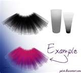 pic shows how to make a larger flowing tutu for a fuller look the straight small strands