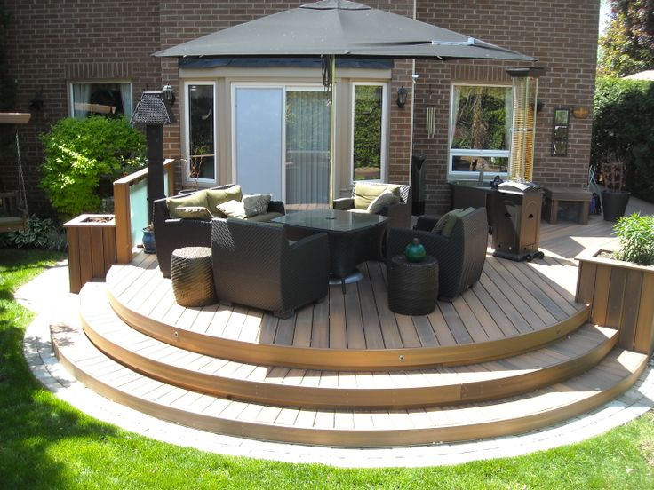 This neat composite deck uses fiberon decking it is built for Fiberon ipe decking prices